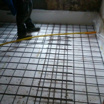 Betonnen vloer kamer straatkant