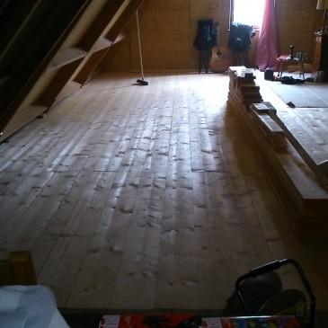 Nieuwe balken en verdiepingsvloer
